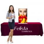 Silverstep Tabletop Retractable Banner Stand 2ft wide x 45in to 54in High