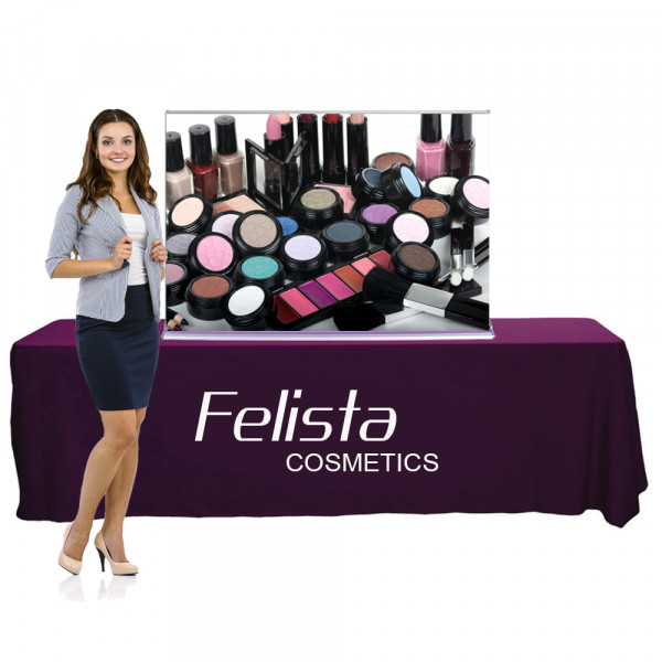 Silverstep Tabletop Retractable Banner Stand 5ft Wide, 3ft or 5ft High
