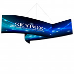 Skybox Pinwheel Hanging Banner 14'W x 5'H with Fabric Graphics