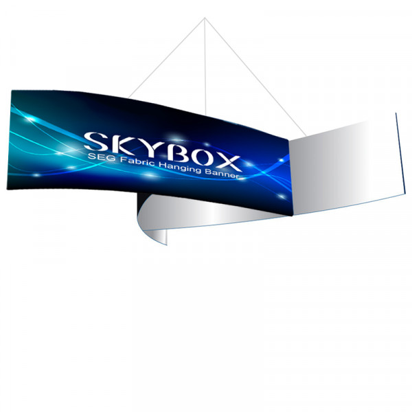 Skybox Pinwheel Hanging Signs 16'W x 5'H with Stretch Graphics