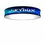 Skybox Circle Hanging Banner 10'w x 24in high with Custom Printed Graphics