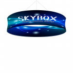 Skybox Circle Ceiling Banner 10'w x 32in with Tension Fabric Graphics