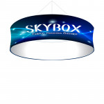 Skybox Round Hanging Sign 10'w x 36h with Stretch Fabric Graphics