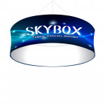 Skybox Round Banner Hanging Display 10'w x 42h with Fabric Graphics
