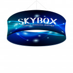 Skybox Round Banner Hanging Signage 10'w x 4'h with Custom Graphics
