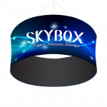 Skybox Large Circle Hanging Display 10'w x 5'h with Custom Banners