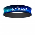 Skybox Round Hanging Sign 15'w x 36h with Stretch Fabric Graphics
