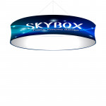Skybox Circle Hanging Banner 8'W x 24in with Printed Fabric Graphics