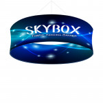Skybox Round Hanging Sign 8'w x 36h with Stretch Fabric Graphics