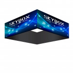 Skybox Square Hanging Sign 10'w x 3'h with Stretch Fabric Graphics