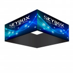 Skybox Square Banner Hanging Display 10'w x 42h with Fabric Graphics