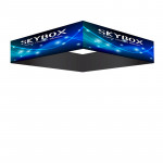 Skybox Square Hanging Banner 12'w x 2'h with Custom Printed Graphics