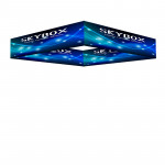 Skybox Square Hanging Banner 15'w x 2'h with Custom Printed Graphics
