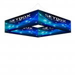 Skybox Square Hanging Banner 8'w x 2'h with Printed Graphics