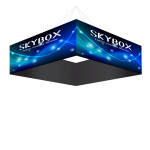 Skybox Square Ceiling Banner 8'w x 32in with Printed Fabric Graphics