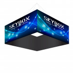 Skybox Square Banner Hanging Display 8'w x 42h with Fabric Graphics
