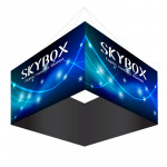 Skybox Large Square Hanging Display 8'w x 5'h with Printed Fabric Banners