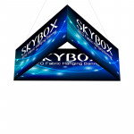 Skybox Triangle Banner Hanging Display 10'w x 42h with Fabric Graphics