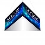 Skybox Triangle Banner Hanging Signage 10ft x 4ft with Fabric Graphics