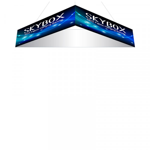Skybox Triangle Hanging Banners 15ft x 2ft with Custom Graphics