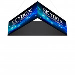 Skybox Triangle Banner Hanging Display 15'w x 42h with Fabric Graphics