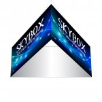 Skybox Triangle Banner Hanging Signage 8ft x 4ft with Custom Graphics