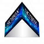 Skybox Large Triangle Hanging Display 8'w x 5'h with Printed Banners
