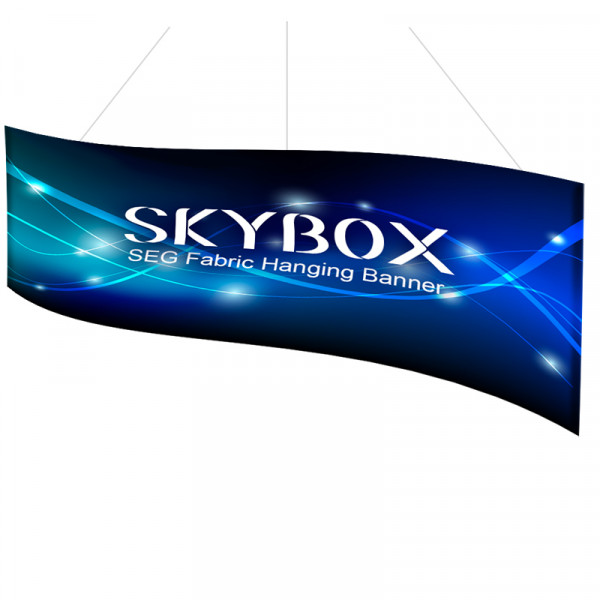 Skybox Wave Hanging Banners 14ft x 5ft Includes Custom Printing